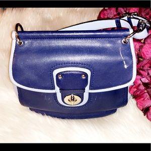 COACH Blue Leather Shoulder Bag